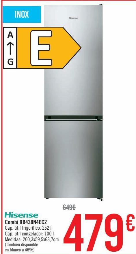 Oferta de Hisense Combi RB438N4EC2  por 479€