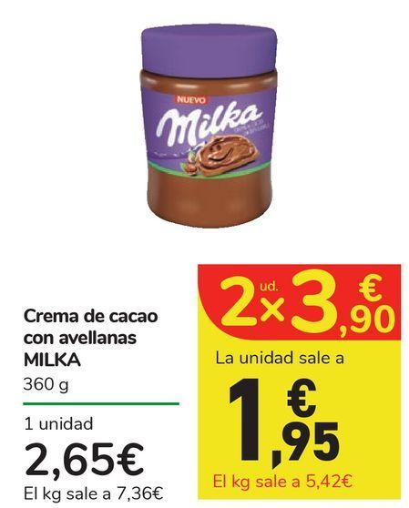 Oferta de Crema de cacao con avellanas MILKA por 2,65€