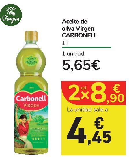 Oferta de Aceite de oliva Virgen CARBONELL por 5,65€