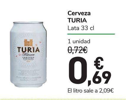 Oferta de Cerveza TURIA por 0,69€