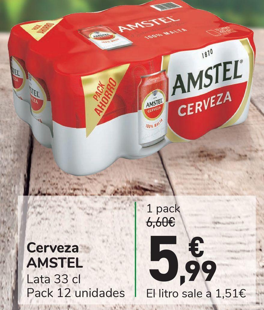 Oferta de Cerveza AMSTEL por 5,99€