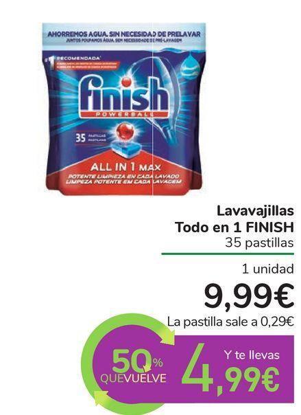 Oferta de Lavavajillas Todo en 1 FINISH por 9,99€