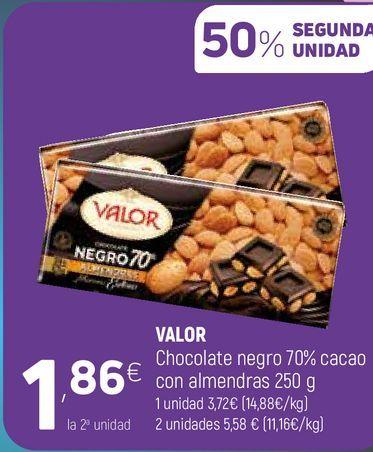 Oferta de Chocolate negro Valor por 1,86€