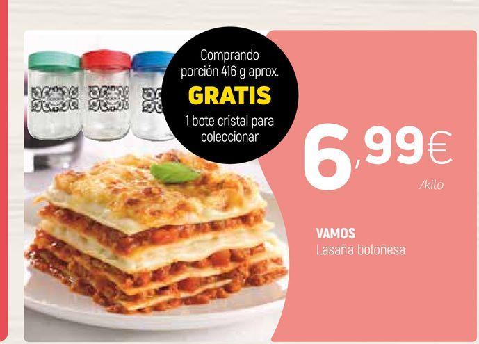 Oferta de Lasaña VAMOS  por 6,99€