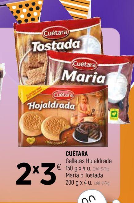 Oferta de Galletas hojaldradas Cuétara por 3€