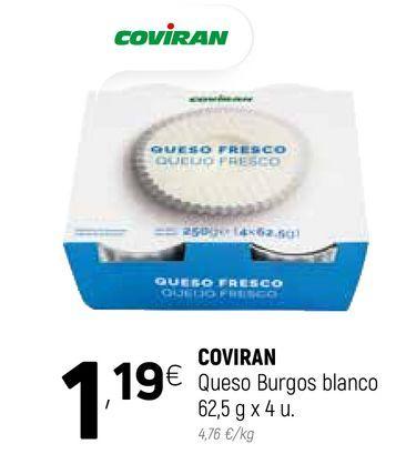 Oferta de Queso de burgos coviran por 1,19€