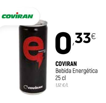 Oferta de Bebida energética coviran por 0,33€