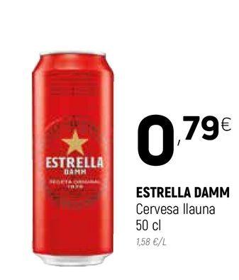 Oferta de Cerveza Estrella Damm por 0,79€