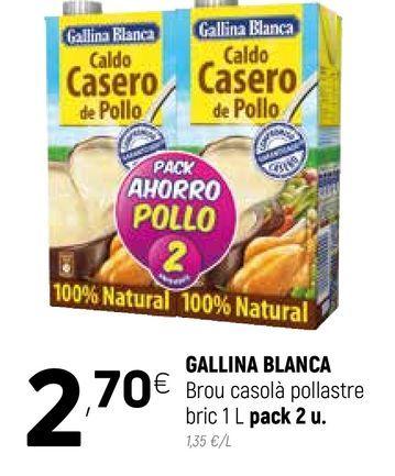 Oferta de Caldo casero Gallina Blanca por 2,7€