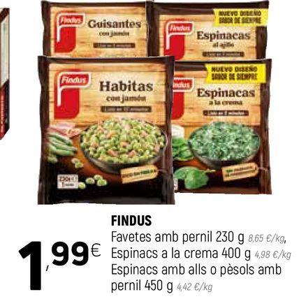 Oferta de Congelados Findus por 1,99€