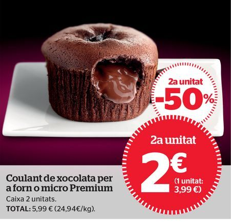 Oferta de Coulant de chocolate por 3,99€