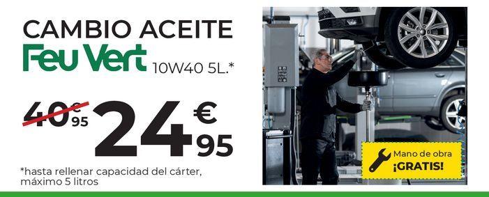 Oferta de Cambio de aceite Feuvert por 24,95€