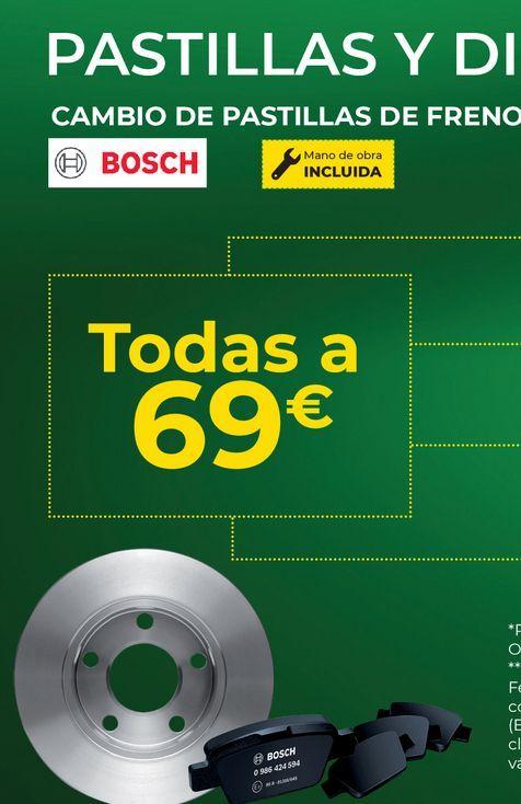 Oferta de Pastillas de freno Bosch por 69€
