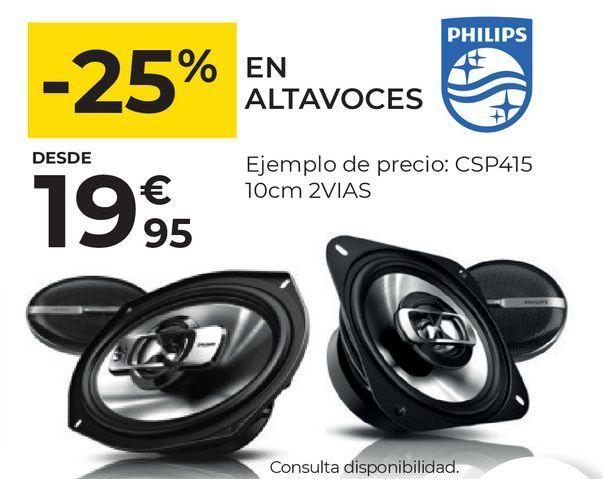 Oferta de Altavoces para coche Philips por