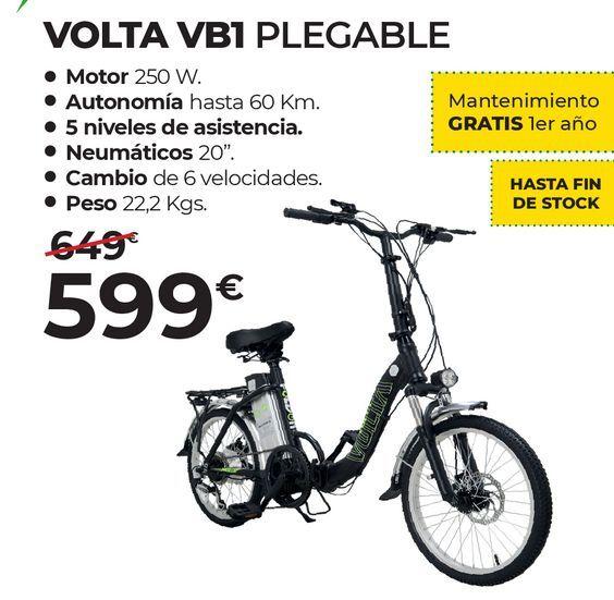 Oferta de Bicicleta eléctrica por 599€
