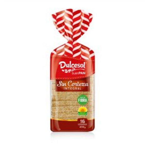 Oferta de Pan integral sin corteza 450g por 1,25€