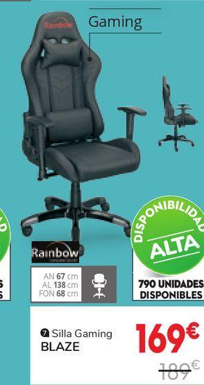 Oferta de Sillas gaming BLAZE  por 169€
