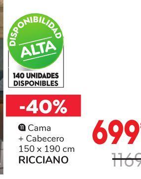 Oferta de Camas cabecera RICCIANO  por 699€