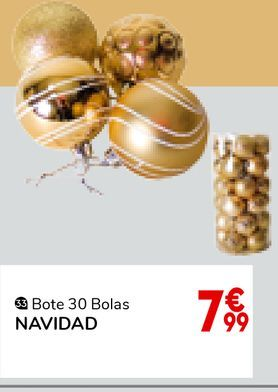 Oferta de Bolas árbol de Navidad por 7,99€