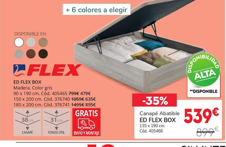 Oferta de Canapé abatible ed flex box  por 539€