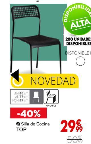 Oferta de Silla de cocina TOP por 29,99€