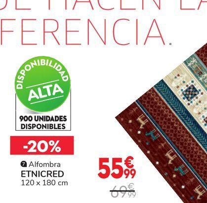 Oferta de Alfombra ETNICRED por 55,99€