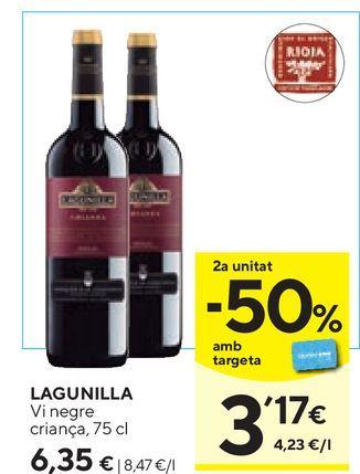 Oferta de Vino tinto Lagunilla por 6,35€