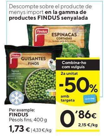 Oferta de Guisantes finos congelados Findus por 1,73€