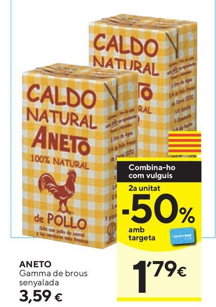 Oferta de Caldo Aneto por 3,59€