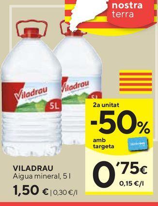 Oferta de Agua Viladrau por 1,5€