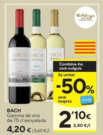 Oferta de Vino blanco Bach por 4,2€
