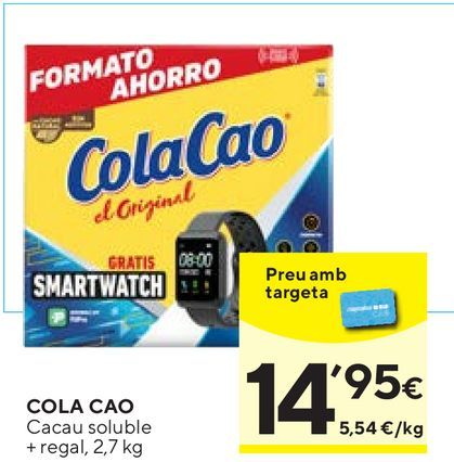 Oferta de Cacao soluble Cola Cao por 14,95€