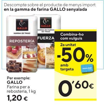 Oferta de Harina Gallo por 1,2€