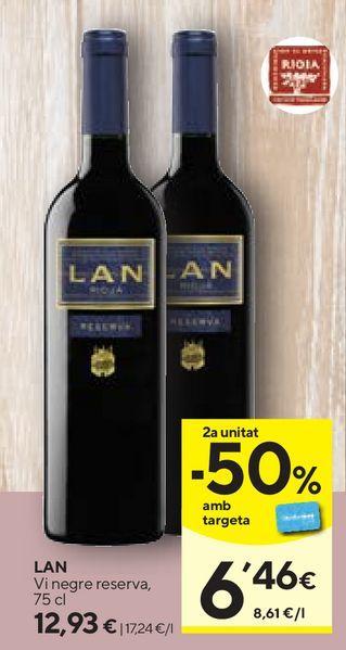 Oferta de Vino tinto Lan por 12,93€