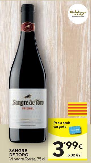 Oferta de Vino tinto Sangre de Toro por 3,99€