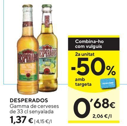 Oferta de Cerveza mejicana Desperados por 1,37€