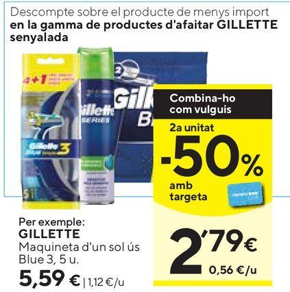 Oferta de Maquinilla Gillette por 5,59€