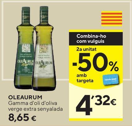 Oferta de Aceite de oliva virgen extra Oleaurum por 8,65€
