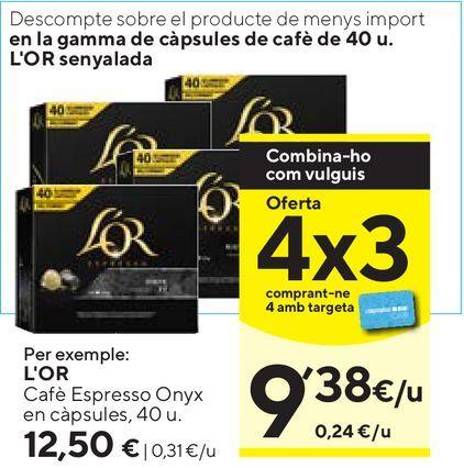 Oferta de Café espresso l'or por 12,5€