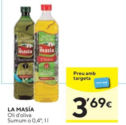 Oferta de Aceite de oliva La Masía por 3,69€