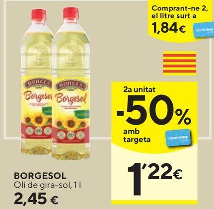 Oferta de Aceite de girasol Borges por 2,45€