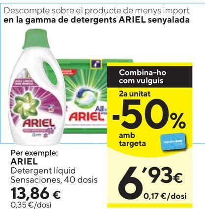 Oferta de Detergente Ariel por 13,86€