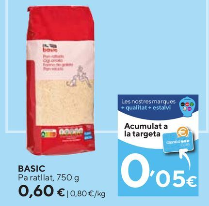 Oferta de Pan rallado basic por 0,6€