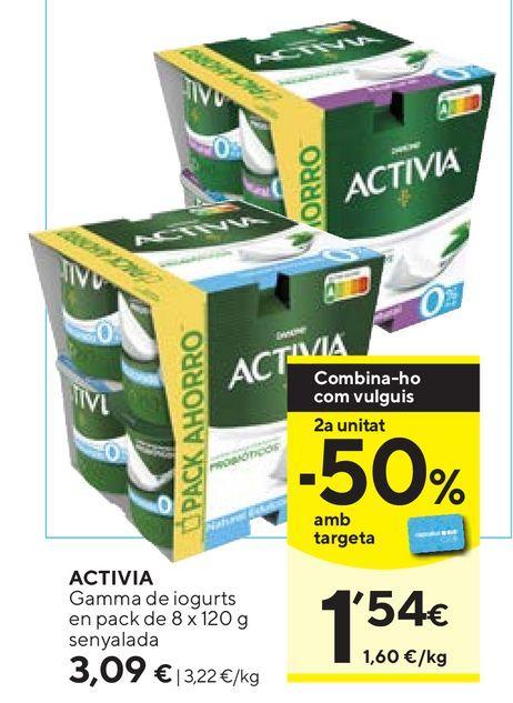 Oferta de Yogur bífidus Activia por 3,09€
