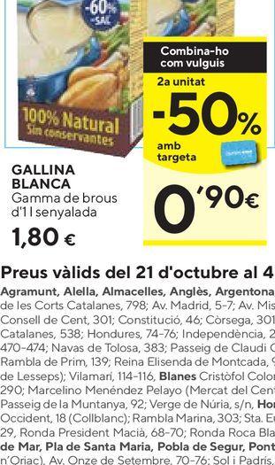 Oferta de Caldo Gallina Blanca por 1,8€