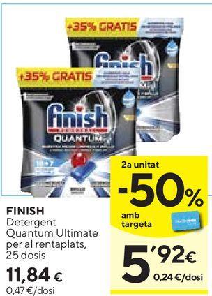 Oferta de Detergente lavavajillas Finish por 11,84€