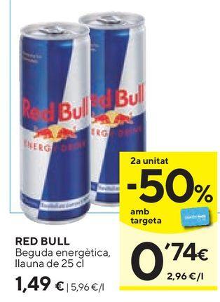 Oferta de Bebida energética Red Bull por 1,49€