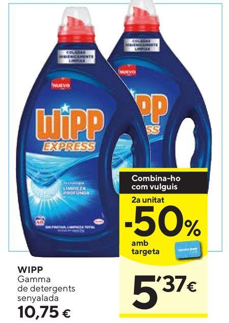 Oferta de Detergente gel WiPP Express por 10,75€