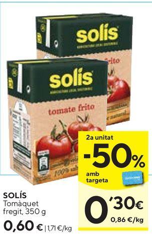 Oferta de Tomate frito Solís por 0,6€