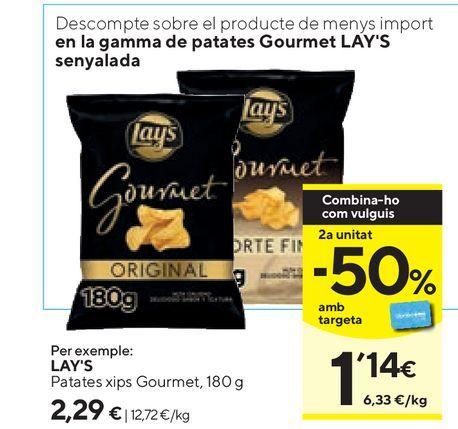 Oferta de Patatas fritas Lay's por 2,29€
